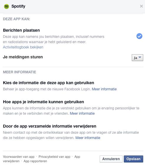 Spotify loskoppelen van Facebook