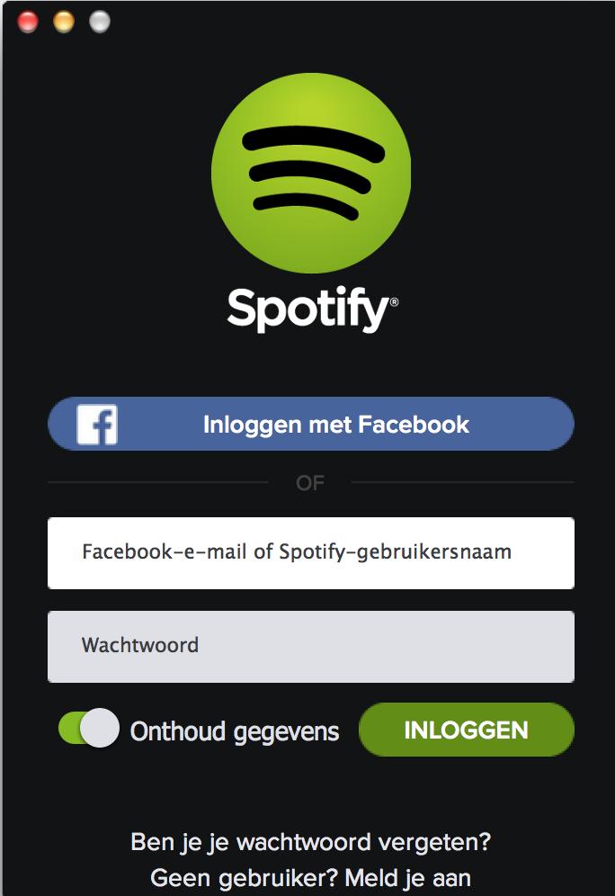 spotify-inloggen